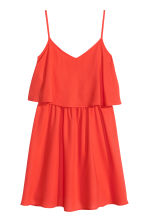 Sleeveless dress - Coral red - Ladies | H&M CN 2