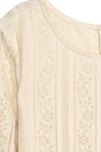Lace dress - Natural white - Ladies | H&M GB 3