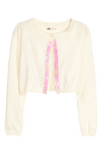 Sequined cardigan - Natural white -  | H&M CN 2