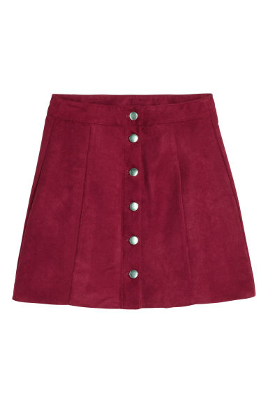 A-line skirt - Burgundy - Ladies | H&M GB