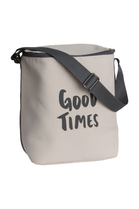 Cool bag with a text print