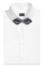 Textured satin bow tie - Dark grey/Patterned - Men | H&M CN 1