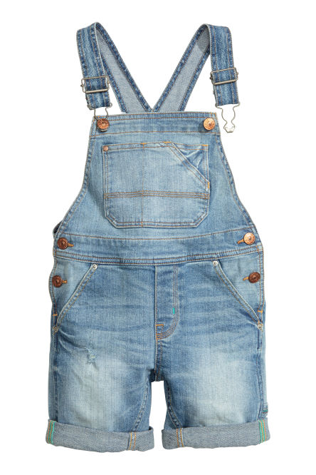 Salopetteshort van denim
