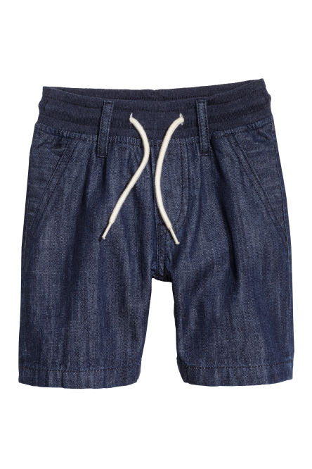 Denim pull-on short