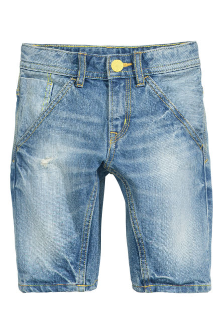 Tapered denim short