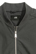 Cotton canvas bomber jacket - Dark grey - Men | H&M CN 3