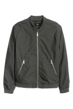 Cotton canvas bomber jacket - Dark grey - Men | H&M CN 2