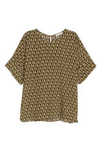Printed blouse - Black/Yellow - Ladies | H&M CN 2