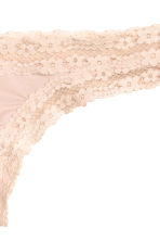 Microfibre half-string briefs - Light beige - Ladies | H&M CN 3