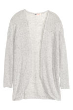 Fine-knit cardigan - Grey marl - Kids | H&M CN 2