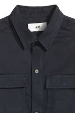 Cotton shirt jacket - Dark blue - Men | H&M CN 3