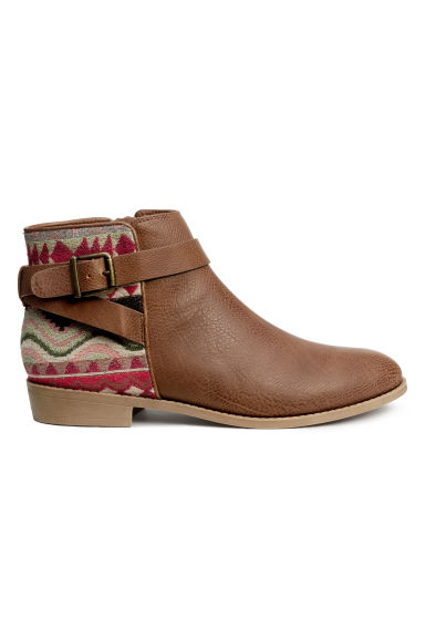 Ankle boots - Brown/Patterned - Ladies | H&M CN