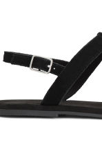 Suede sandals with fringes - Black - Ladies | H&M CN 5