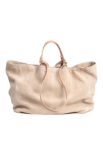 Suede shopper - Light beige - Ladies | H&M CN 2