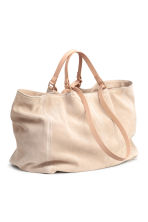 Suede shopper - Light beige - Ladies | H&M CN 3