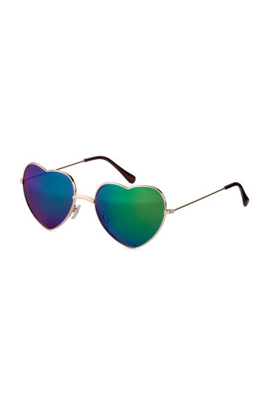 Heart-shaped sunglasses - Gold - Ladies | H&M GB