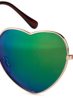 Heart-shaped sunglasses - Gold - Ladies | H&M GB 3