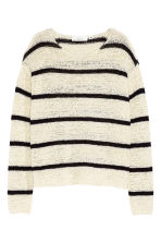 Knitted jumper - Natural white/Striped - Ladies | H&M CN 2