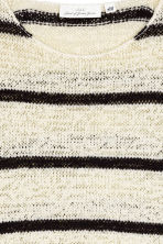 Knitted jumper - Natural white/Striped - Ladies | H&M CN 3