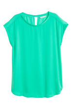 Short-sleeved blouse - Green - Ladies | H&M CN 2