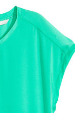 Short-sleeved blouse - Green - Ladies | H&M CN 3