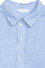 Linen shirt - Light blue - Ladies | H&M CN 3