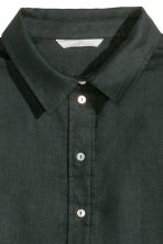 Linen shirt - Black - Ladies | H&M CN 2