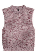 Sleeveless jumper - Dark red - Ladies | H&M GB 2