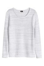Purl-knit cotton jumper - Light grey marl - Men | H&M CN 2
