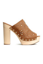 Studded platform mules - Brown - Ladies | H&M CN 2