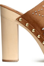 Studded platform mules - Brown - Ladies | H&M CN 5