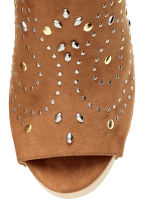 Studded platform mules - Brown - Ladies | H&M CN 4