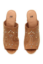 Studded platform mules - Brown - Ladies | H&M CN 3