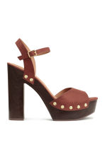 Platform sandals - Rust brown - Ladies | H&M CN 1