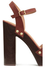 Platform sandals - Rust brown - Ladies | H&M CN 4