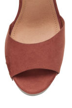 Platform sandals - Rust brown - Ladies | H&M CN 3