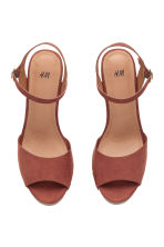 Platform sandals - Rust brown - Ladies | H&M CN 2
