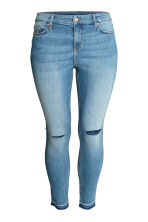 H&M+ Slim ankle ripped jeans - Denim blue - Ladies | H&M CN 2
