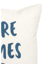 Cushion cover with text print - White/Blue - Home All | H&M GB 3