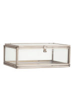 Clear glass box - Silver - Home All | H&M GB 1