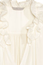 Top with a frilled collar - Natural white - Ladies | H&M CN 3