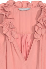 Top with a frilled collar - Powder pink - Ladies | H&M CN 2