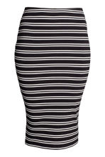 H&M+ Pencil skirt - Black/Striped - Ladies | H&M CN 2