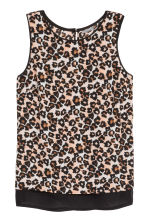 Sleeveless chiffon blouse - Leopard print - Ladies | H&M CN 2