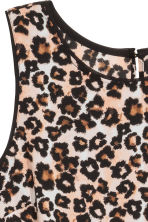 Sleeveless chiffon blouse - Leopard print - Ladies | H&M CN 4
