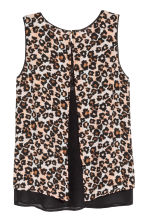 Sleeveless chiffon blouse - Leopard print - Ladies | H&M CN 3