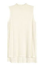Fine-knit sleeveless top - Natural white - Ladies | H&M CN 2