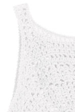 Crocheted crop top - White - Ladies | H&M CN 3