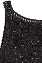 Crocheted crop top - Black - Ladies | H&M CN 2