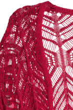 Fringed lace-knit cardigan - Dark red - Ladies | H&M CN 3